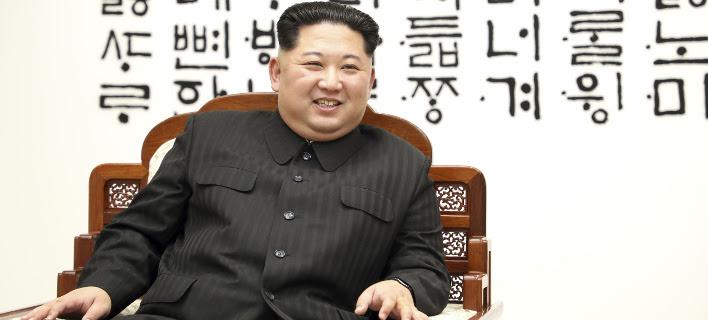 Ο Κιμ Γιονγκ-ουν (Φωτογραφία: AP)