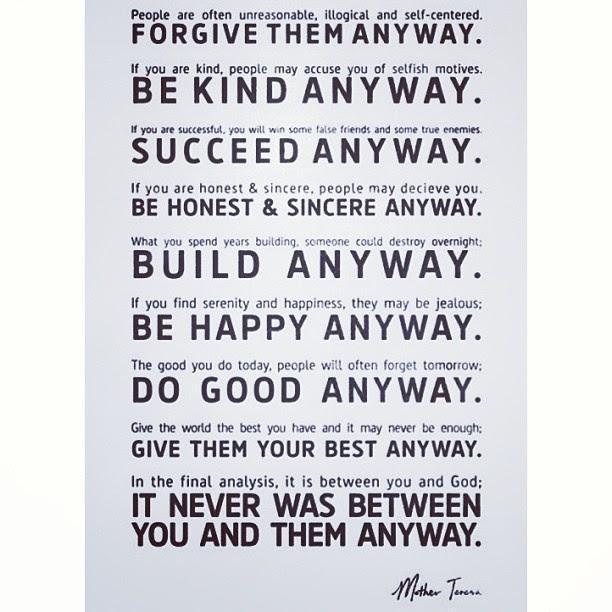 Mother Teresa's wise words