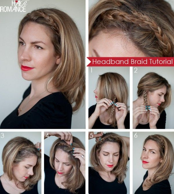 Plait your hair to create a headband.