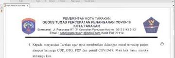 Press Release COVID-19 Tarakan 25 Juni 2020