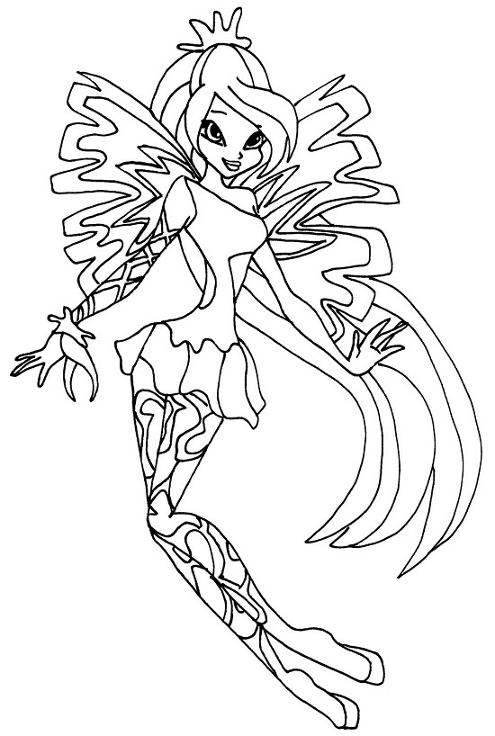 Printable Winx Club Coloring Pages Coloring Me