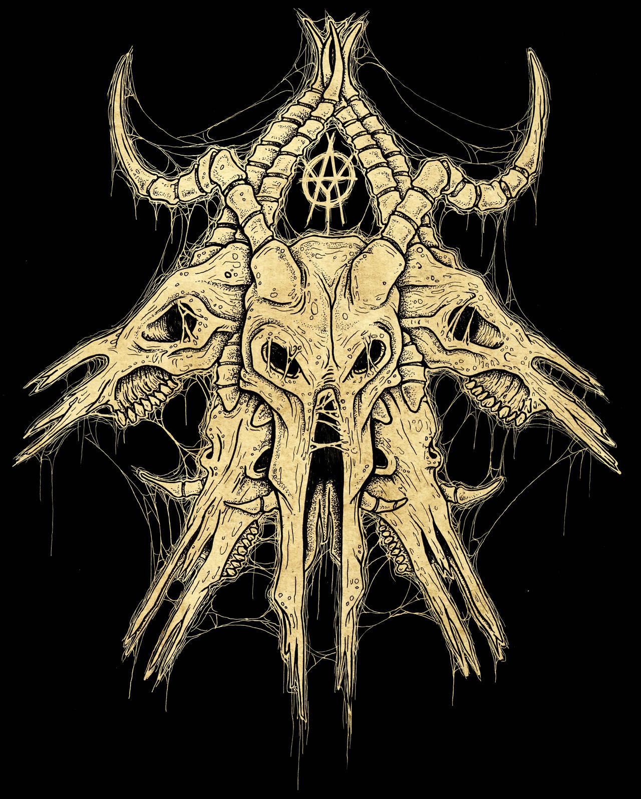 Download Cow Skull Black by ayillustrations on DeviantArt
