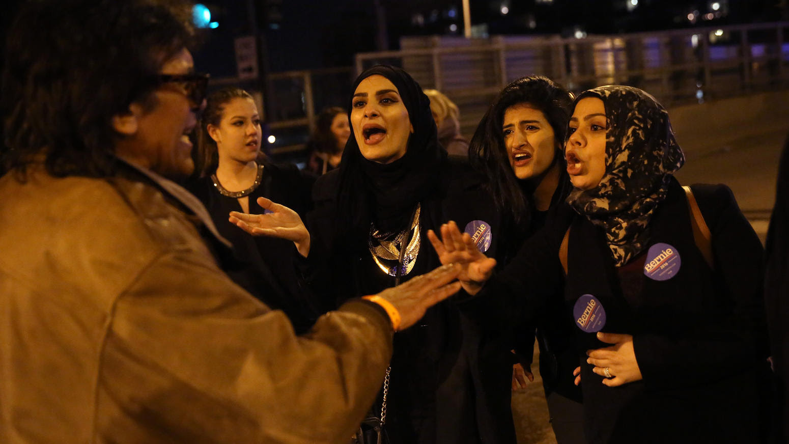 Trump supporters, protesters clash outside