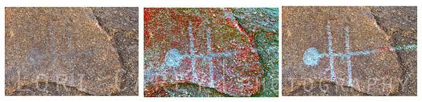 Alabama Hills petroglyphs enhanced using Dstretch