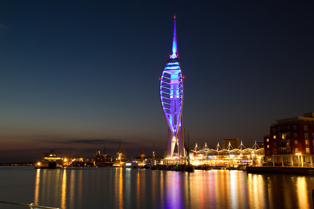 Spinnaker Tower At Night Shot From Just Outside The