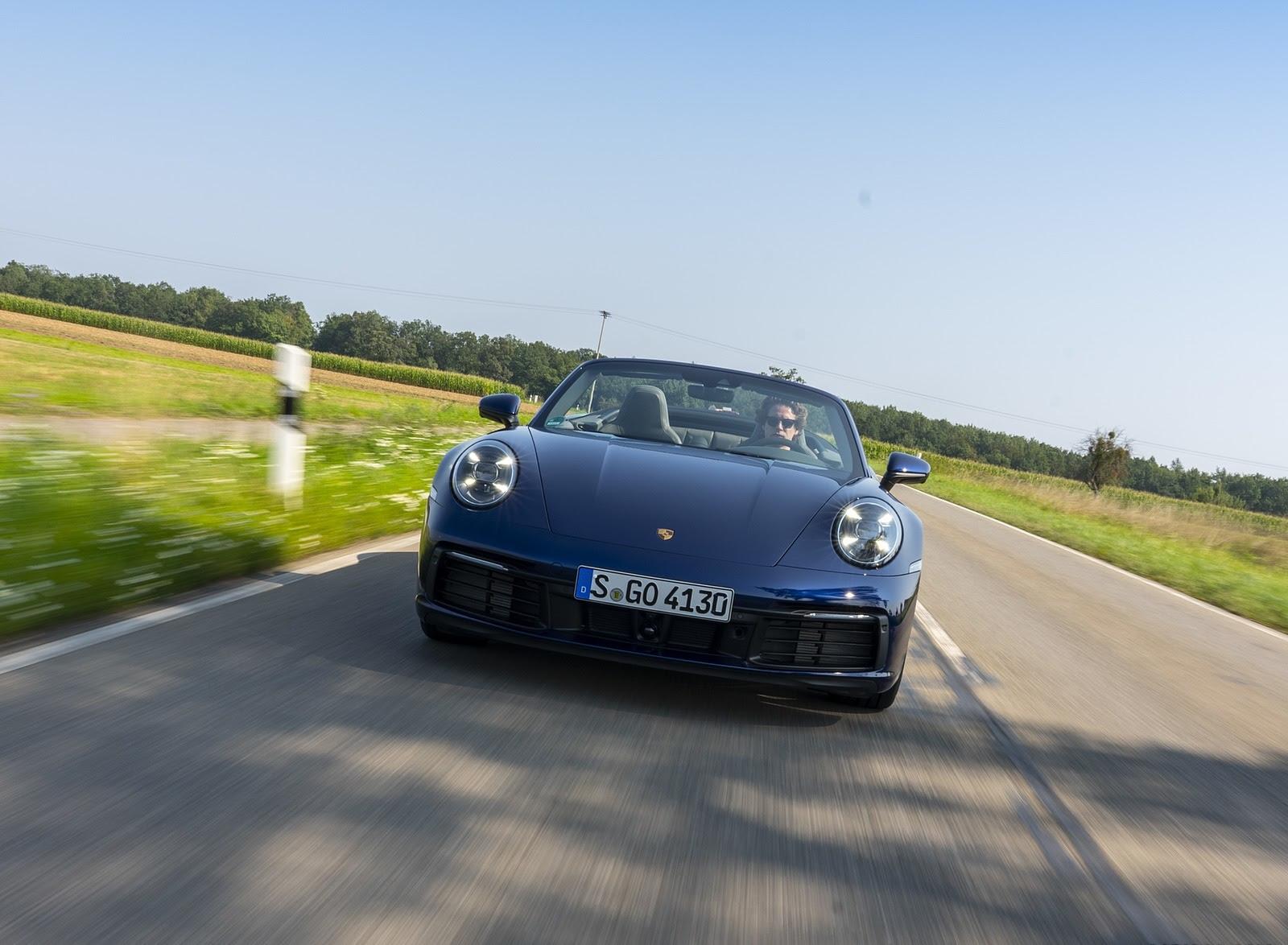 2020 Porsche 911 Carrera Cabriolet Color Gentian Blue Metallic Images, Photos, Reviews