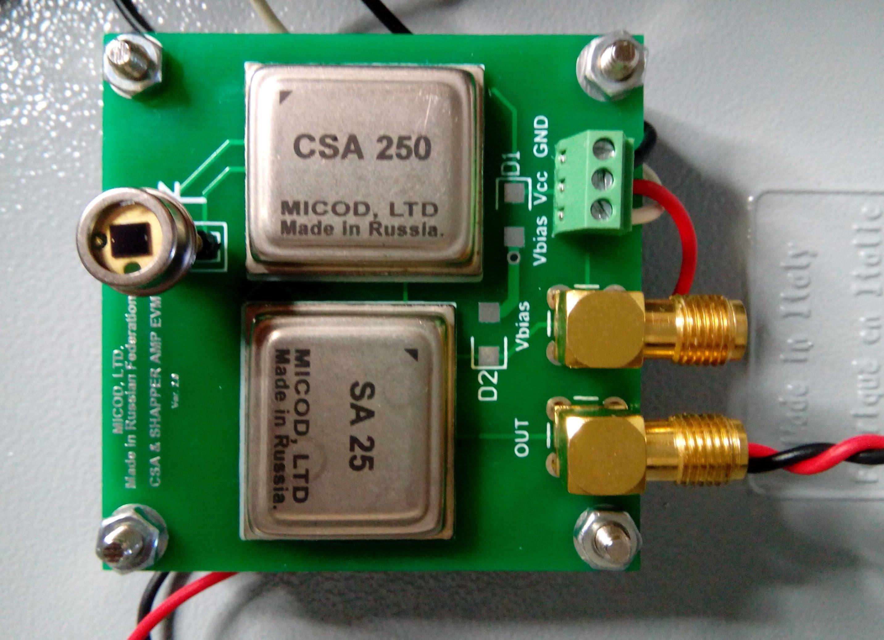 Si Pin Photodiode Plus With Csa Sa Physicsopenlab