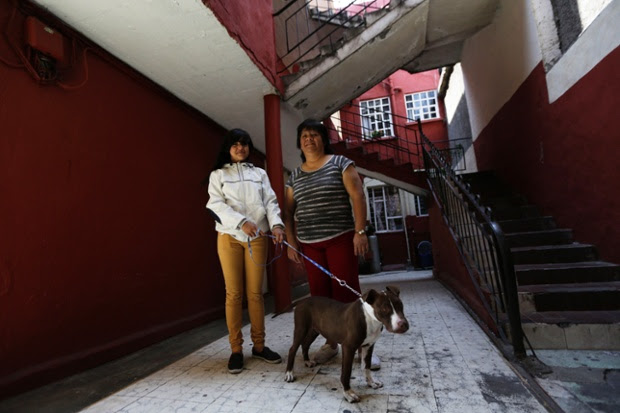 Rosaura Realsola, 51, stands with her daughter Alexandra Yamileth, 13, in front of their home in Tepito in Mexico City. Rosaura is a domestic cleaner, who finished her education at 16. She says that when she was a child, she wanted to be a teacher when she grew up. Rosaura hopes that her daughter Alexandra will become a nurse. Alexandra will finish education in 2023 and says she wants to be a nurse when she grows up.
