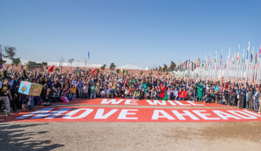 """<p>Foto de familia a las afueras de la COP22. / <a href=""""https://www.flickr.com/photos/unfccc/30973863431/"""" target=""""_blank"""">UNclimatechange</a></p>"""