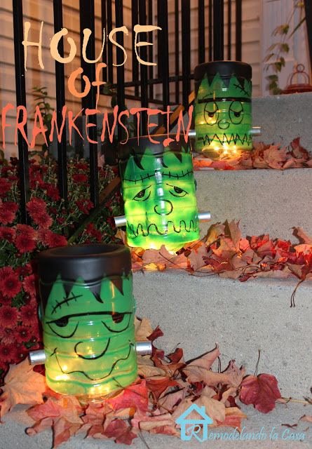 Remodelando la Casa: Frankenstein Decorations for Halloween