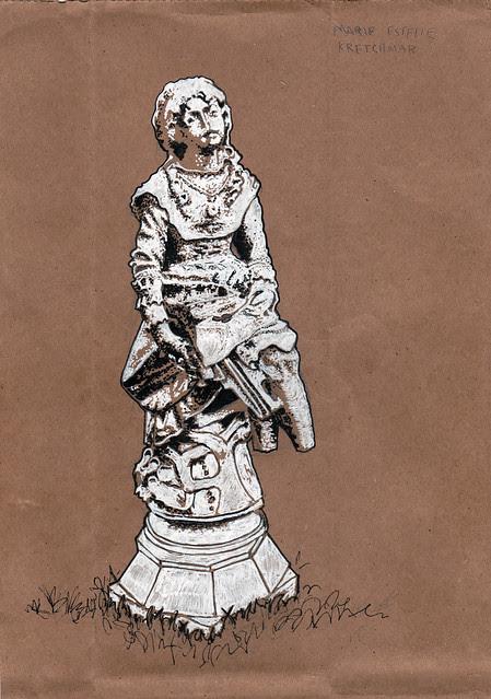 Congressional Cemetery Statue; Marie Estelle Kretchmar