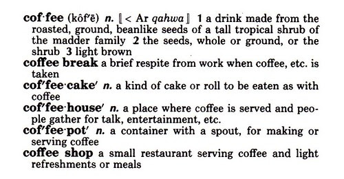 coffee definitions snippet