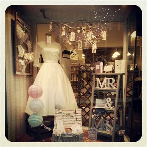 wedding display windows   New quirky wedding shop window