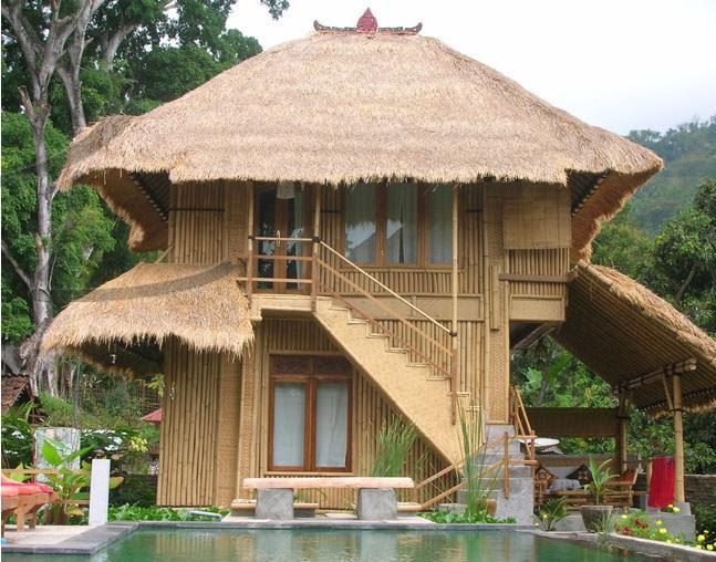 70 Gambar Rumah Klasik Bahan Bambu HD Terbaru