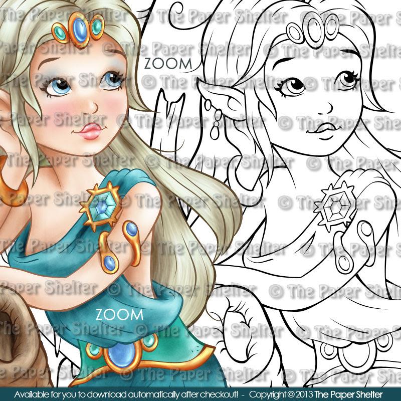 Winter Goddess - Digital Stamp