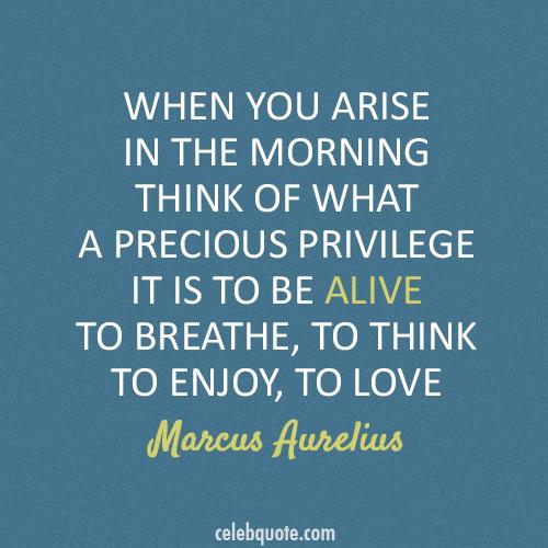 Marcus Aurelius Quote About Morning Love Breathe Alive Cq