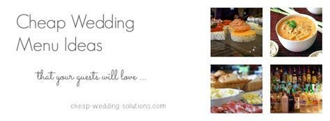 Wedding Menu Ideas On A Budget   For Spring, Summer, Fall