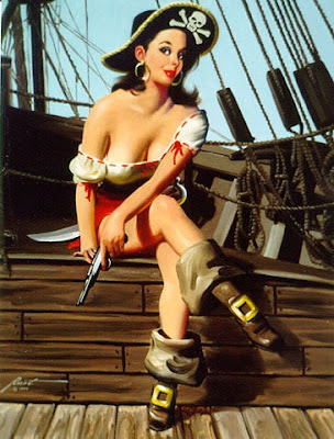 pin-up art by Donald Rust