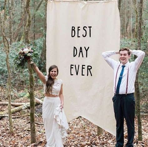 """Large pennant banner sign """"best day ever"""" wedding backdrop"""