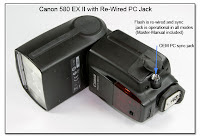 AS1012: Canon 580 EX II with Re-Wired PC Jack - Operational in All Modes Including Manual-Master