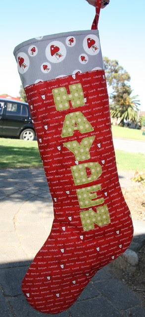 Christmas stocking for Morgan