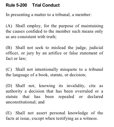 Rule 5-200 Trial Conduct