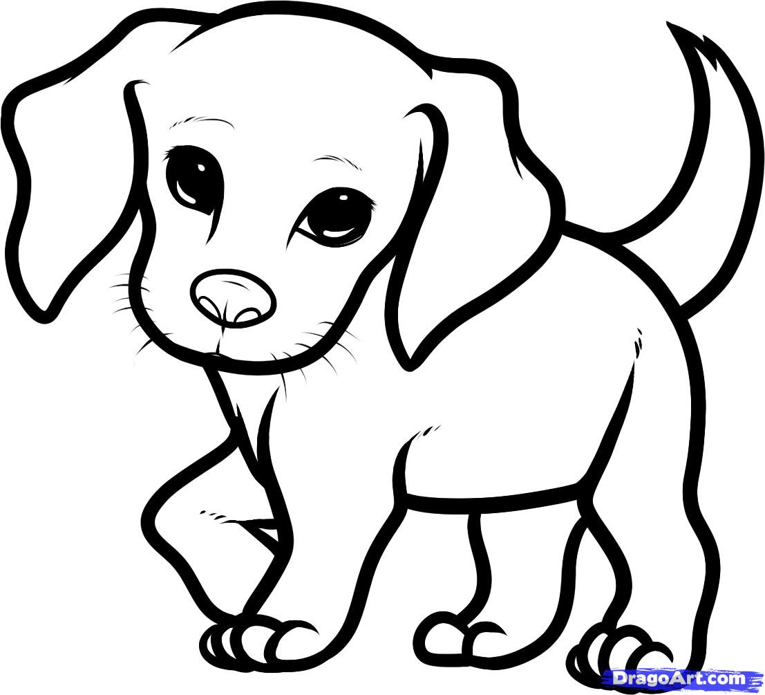 Easy How To Draw A Cute Puppy Step By Step Cuteanimals