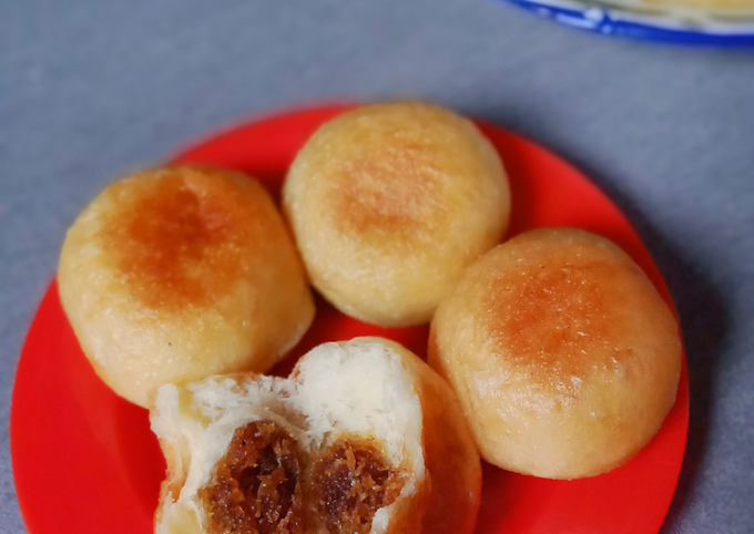 Cara Praktis Memasak Wadai untuk-untuk / roti goreng isi unti kelapa khas Banjarmasin Anti Gagal