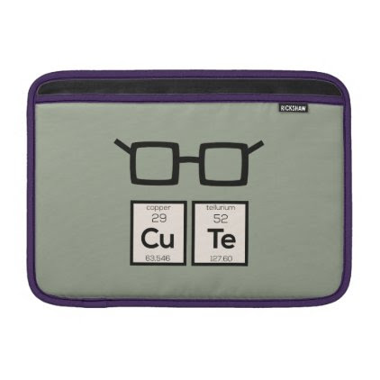 Cute chemical Element Nerd Glasses Zwp34 Sleeve For MacBook Air