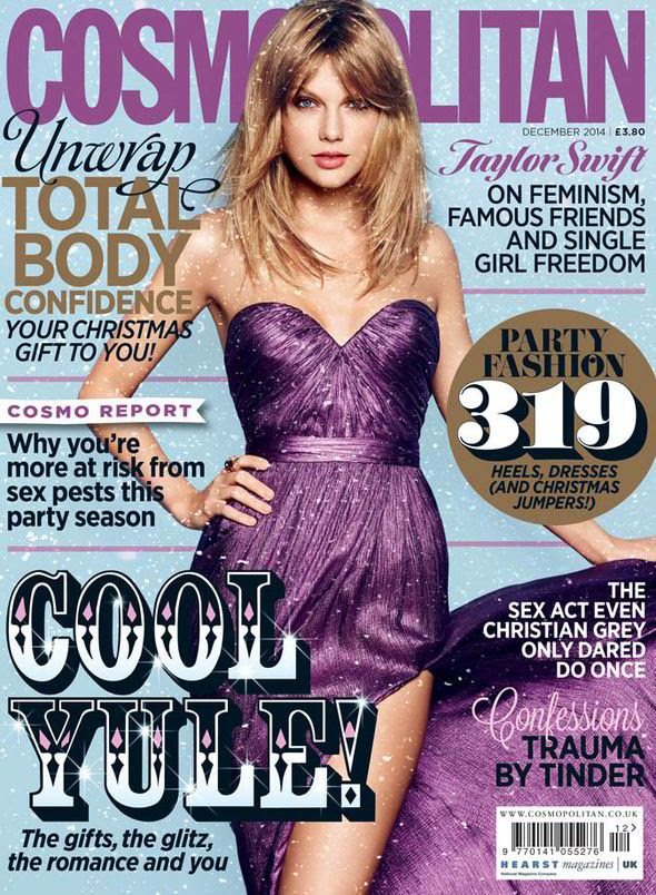 The full interview with Taylor Swift appears in the December issue of Cosmopolitan