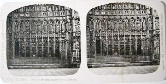 Fotografía estereoscópica de Toledo. Catedral