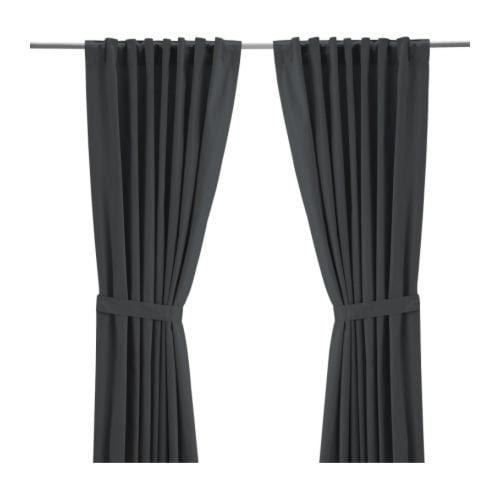 RITVA Curtains with tie-backs, 1 pair IKEA