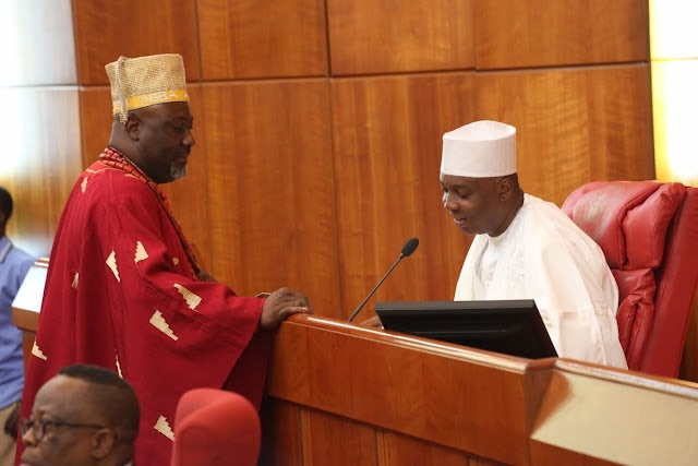 Pics from the Senate plenary where Melaye allegedly threathened to beat MrsTinubu
