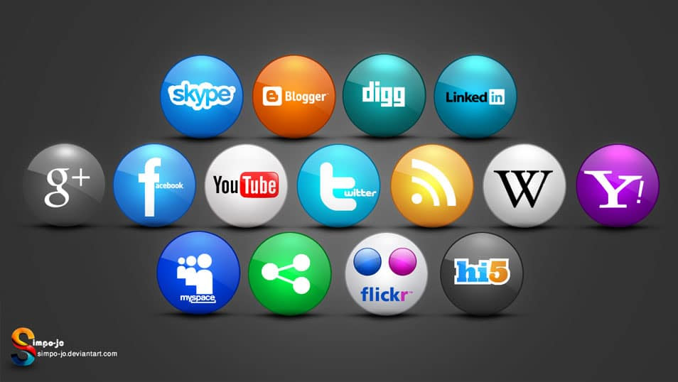 Rounded Social media icons