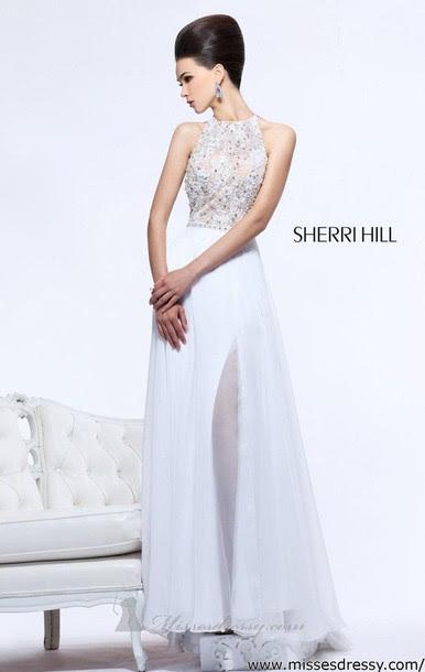 Designer evening dress white
