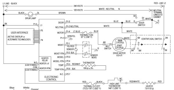 circuit diagrams : electrical diagram for whirlpool dryer  circuit diagrams - blogger