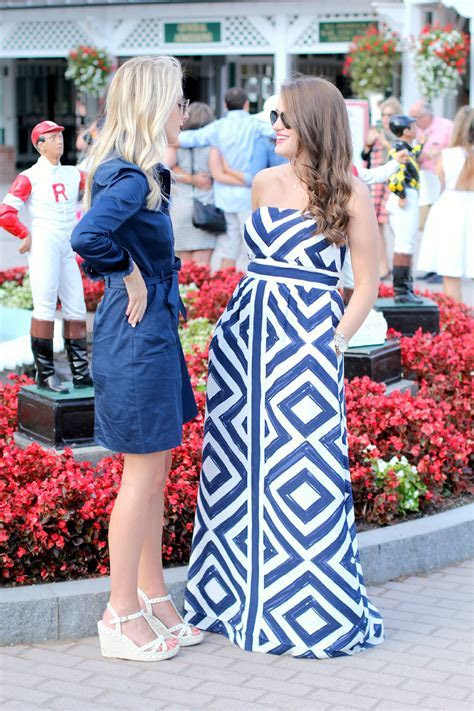 A Day at Saratoga Race Track   New York City Fashion and