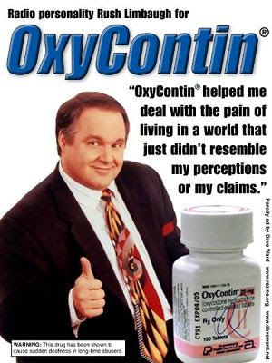 Radio personality Rush Limbaugh for Oxycontin