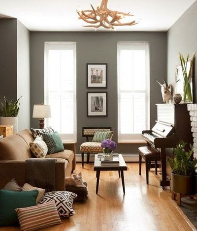 Grey walls with light hardwood floors / For the home ...