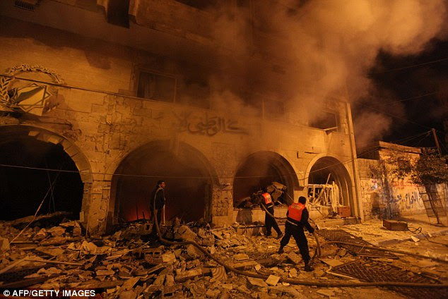 Future: Israeli leaders discussed an Egyptian plan for a truce with Gaza's ruling Hamas, reports said, before a mission by the UN chief to Jerusalem and as the toll from Israeli raids on Gaza rose over 100