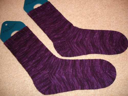 Charlotte's perfect purple socks! 003