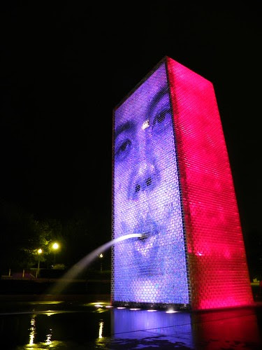 Chicago Crown Fountain at Night
