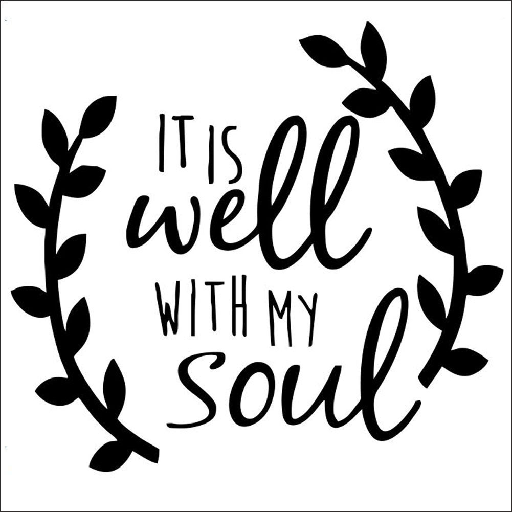 It Is Well With My Soul Quotes Vinyl Wall Sticke Car Stickers Decal