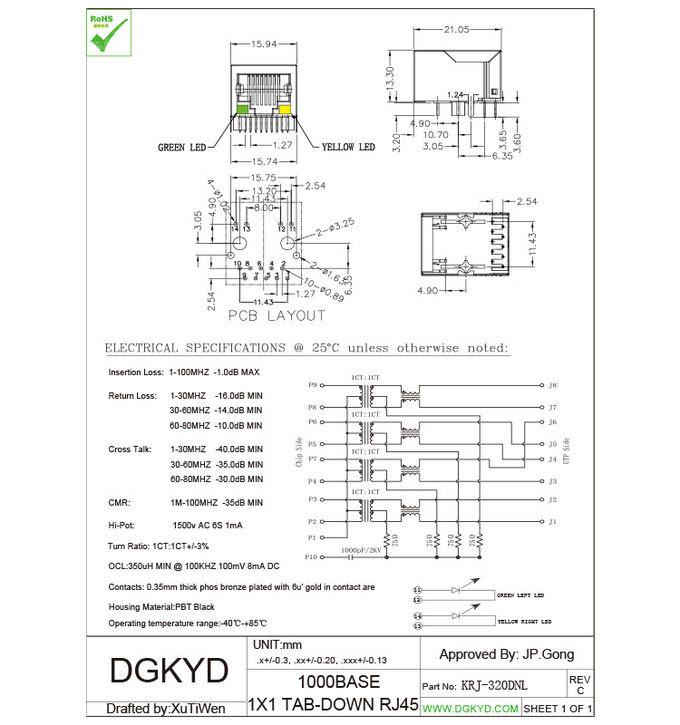 Gigabit Ethernet Pcb Layout