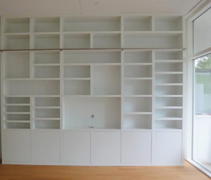 librerie bianche su misura lugano