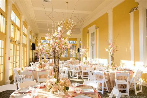 Beautiful wedding reception decor in the Mansion House at