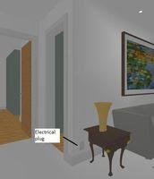 3D Electrical Plug - Sofa Left