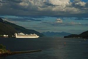 Cruise ship: Grand Princess at Juneau, Alaska