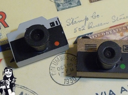 Wooden Rubber Stamp - Vintage Style - Camera Stamp 1 Pcs - JolinTsai
