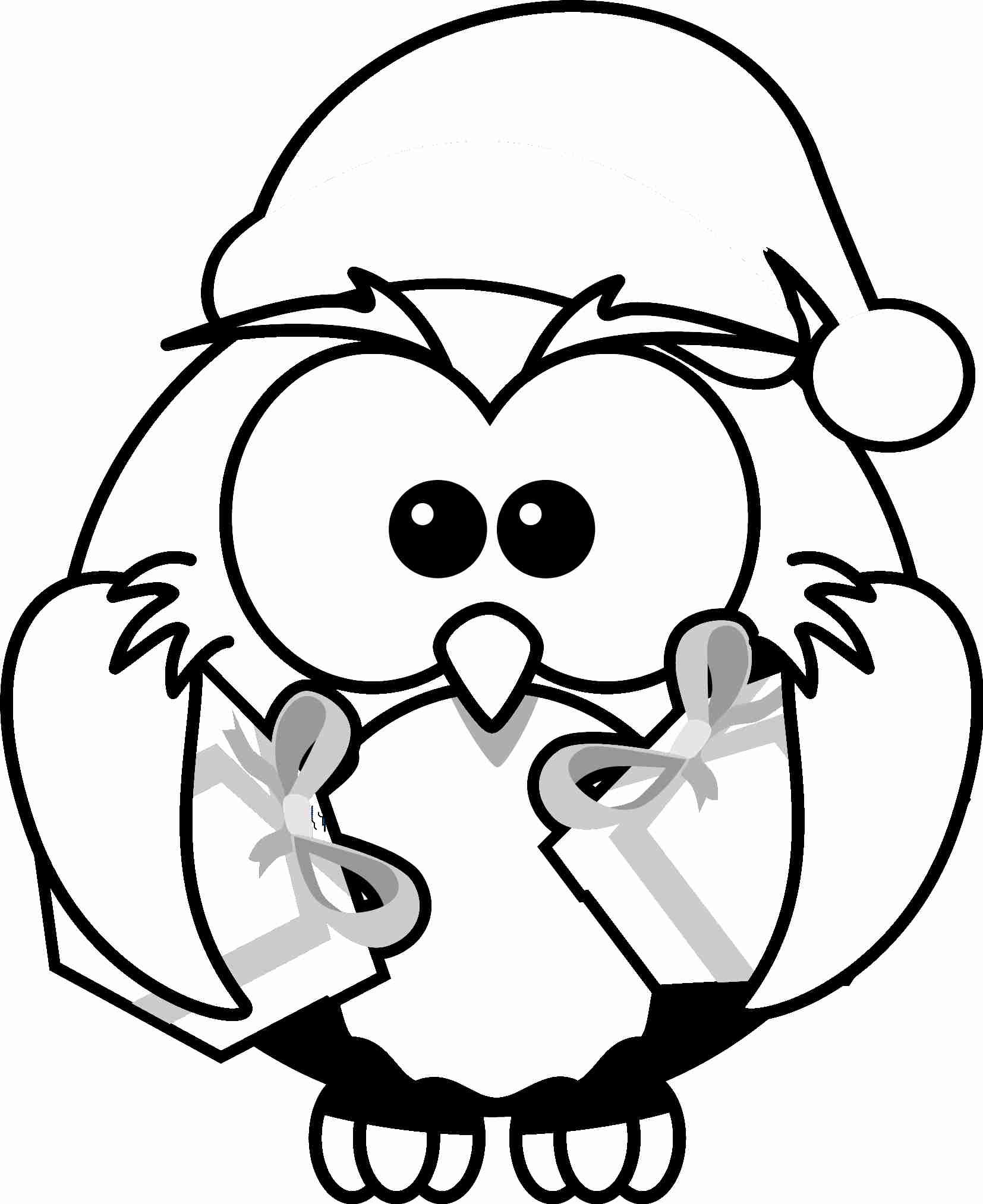 Cute Christmas Animal Coloring Pages - Coloring Home